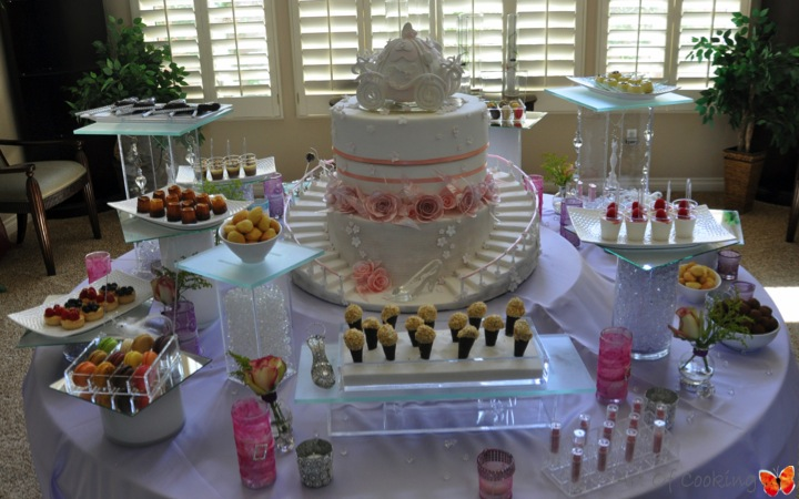 cinderella cake table idea for bridal shower