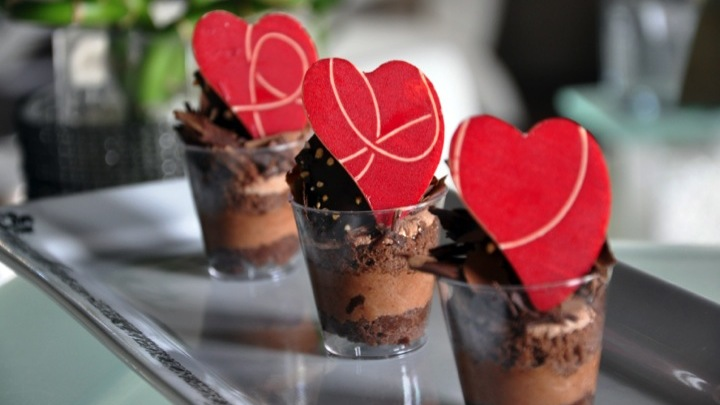 Black Forest Verrine with Chocolate heart