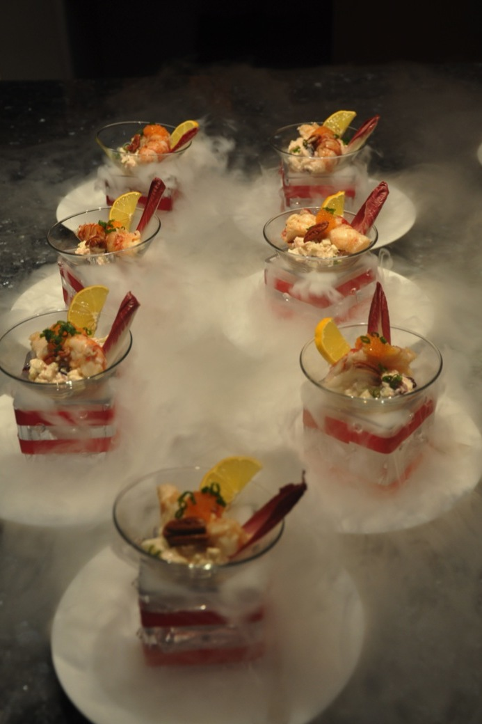 Dry Ice Smokey Effect and Waldorf Salad for VIP Event