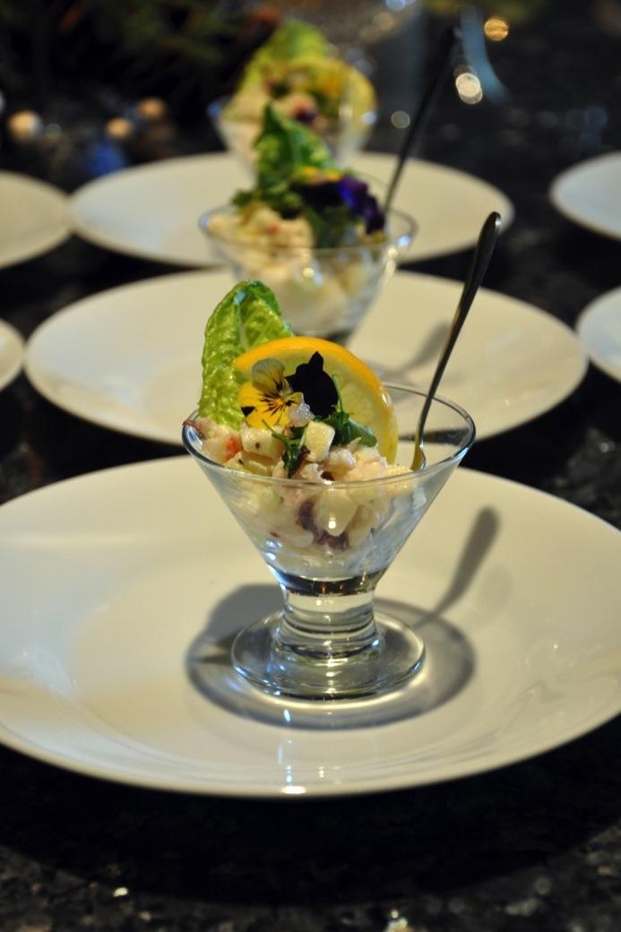 Lobster waldorf salad Martini